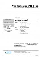 James Hardie – Hardie Plank – Avis Technique